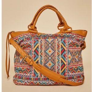 NWT Savanne Jane Embroidered Weekender Bag